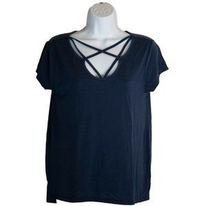 Womens Alya Navy Blue Shirt Size S Small